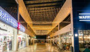 מערכת התאורה הפנימית במרכז המסחרי יורו שופס (צילום: יורו ישראל)
