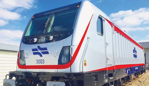 """אחד הקטרים של קו הרכבת המהיר י-ם-ת""""א (צילום: באדיבות רכבת ישראל)"""