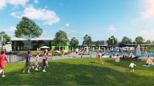 פארק המים והספורט החדש של מודיעין (הדמיה: דוברות עיריית מודיעין מכבים רעות)