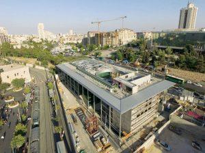 תחנת יצחק נבון בכניסה לעיר בירושלים (צילום: באדיבות רכבת ישראל)