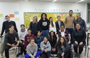 בני הנוער והסטודנטים המתנדבים בצהרונים (צילום: דוברות עיריית מודיעין מכבים רעות)