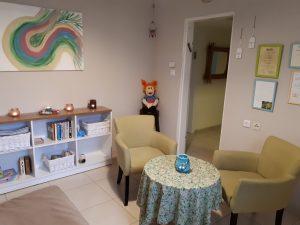 חדר העבודה של מלכה שומרוני (צילום: מלכה שומרוני)