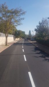 ריבוד כביש ברחוב רכסים (צילום: דוברות עיריית מודיעין מכבים רעות)