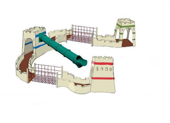 פארק פלאי עולם, החומה הסינית (הדמיה: דוברות עיריית מודיעין מכבים רעות)
