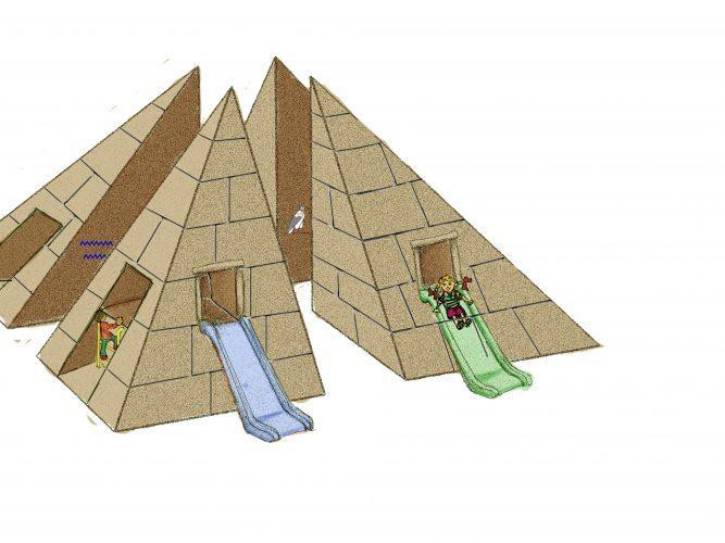 פארק פלאי עולם, הפירמידה (הדמיה: דוברות עיריית מודיעין מכבים רעות)