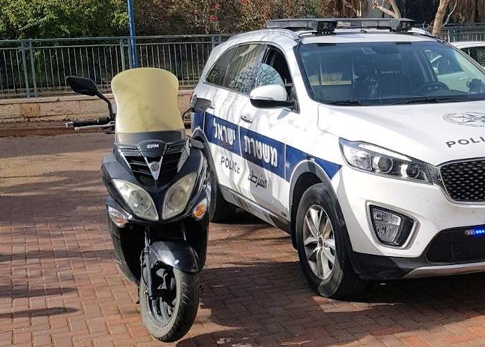 קטנוע במודיעין (צילום: משטרת ישראל)