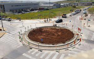 כיכר האופה-קדר במרכז עינב (צילום: עיריית מודיעין, מכבים רעות)