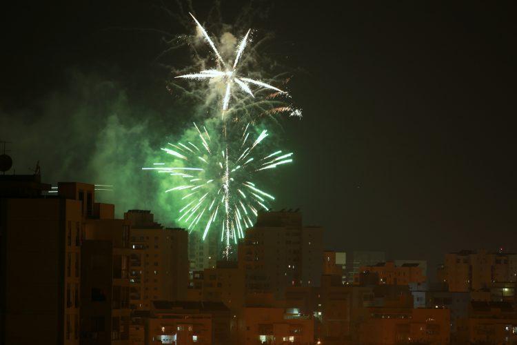 מופע זיקוקים ביום העצמאות (צילום: אילן אסייג)