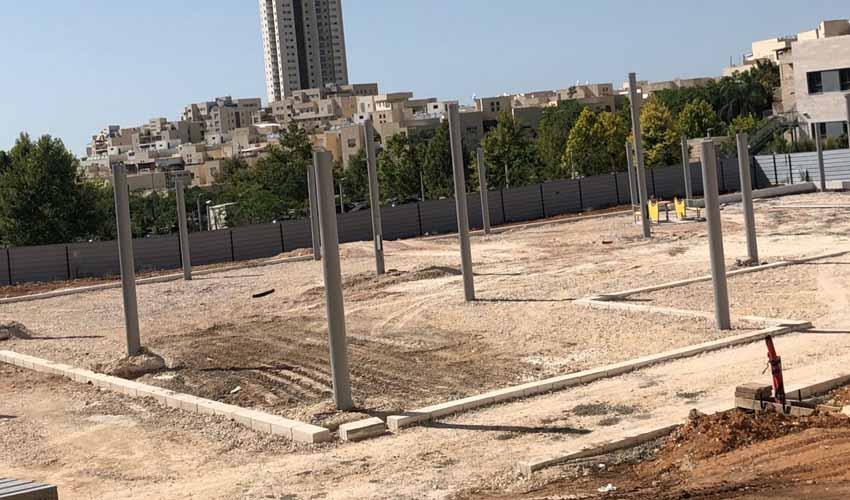 אתר העבודות להקמת הפארק הנגיש במודיעין (צילום: דוברות עיריית מודיעין מכבים רעות)