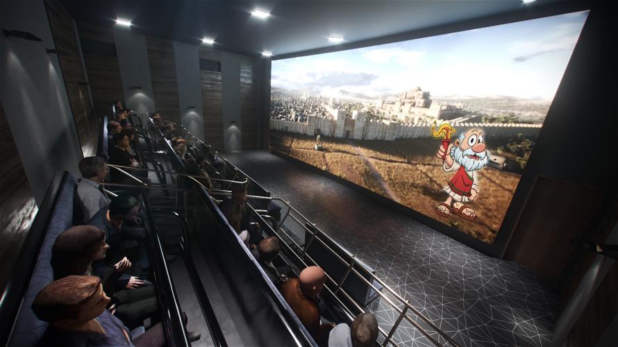 הדמיה של מנהרת הזמן, שתפעל במוזיאון מורשת החשמונאים (הדמיה: קומפיוגרפיק)