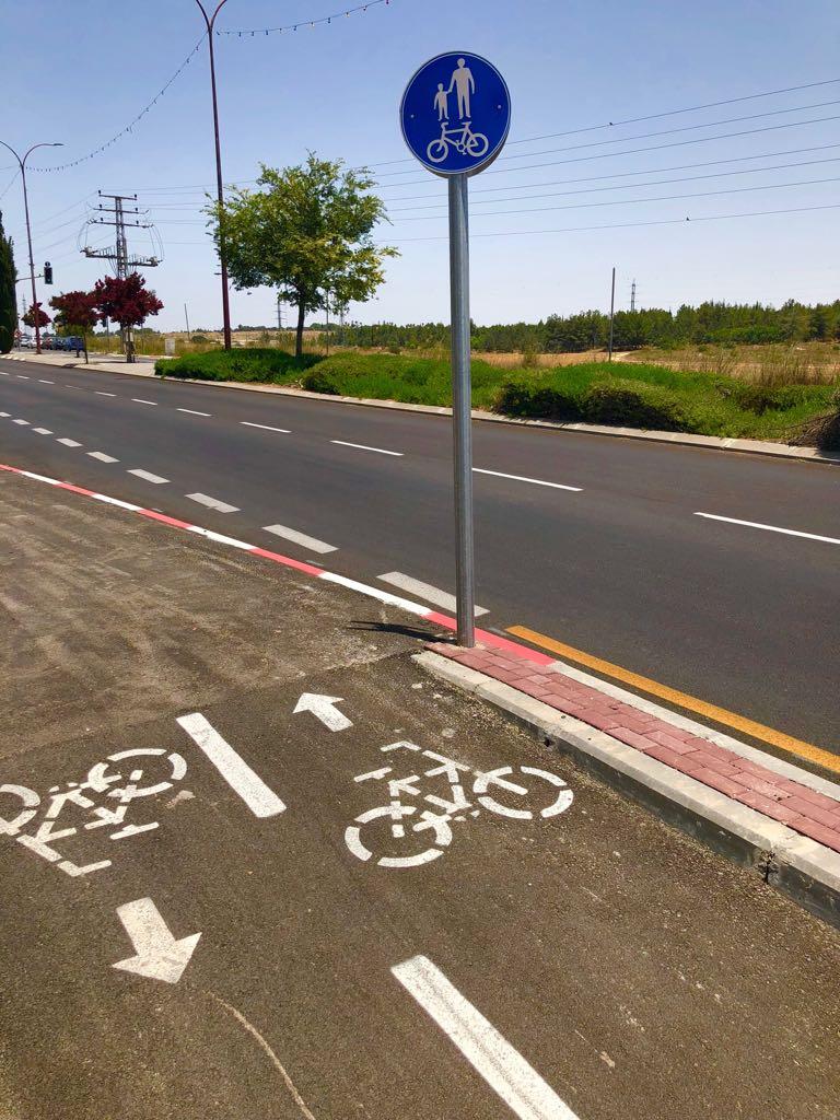 שביל האופניים החדש, הבוקר (צילום: דוברות עיריית מודיעין מכבים רעות)