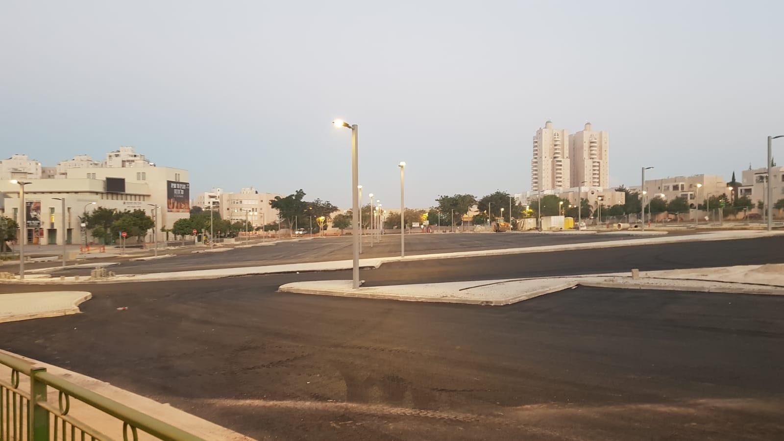 החניון החדש ברחוב עמק דותן (צילום: דוברות עיריית מודיעין מכבים רעות)