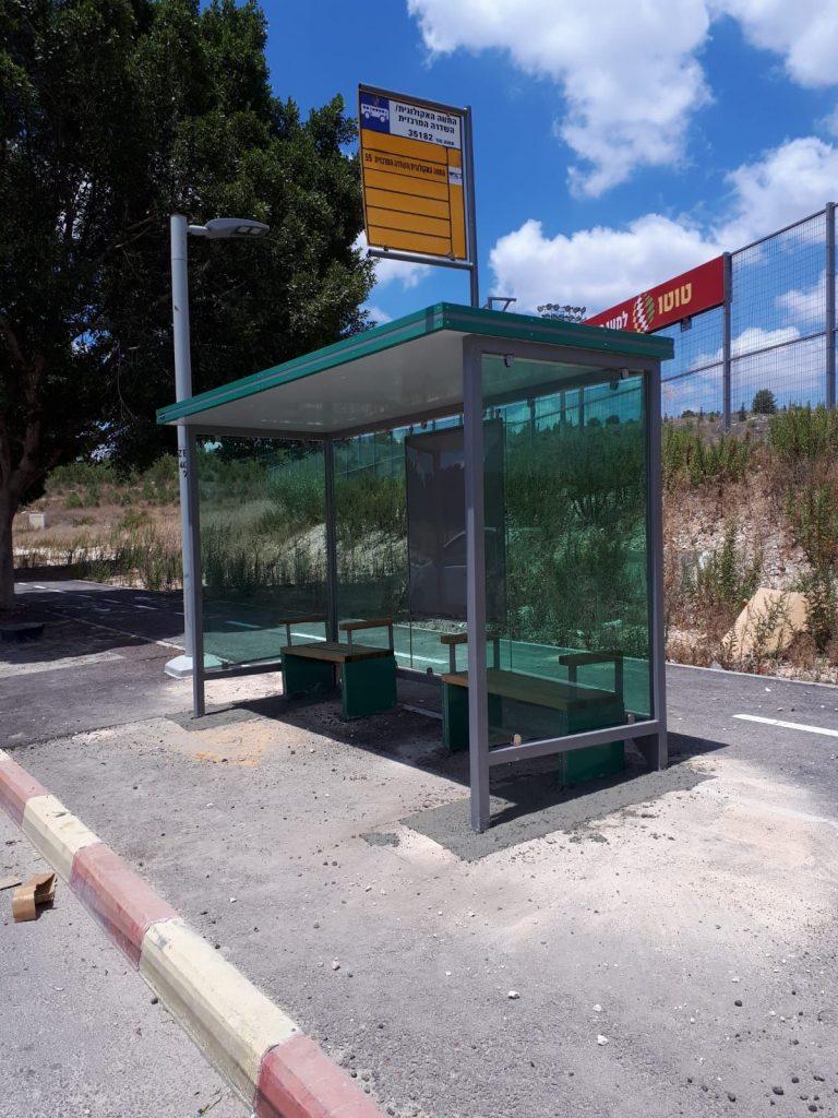 תחנות אוטובוס במודיעין (צילום: דוברות עיריית מודיעין מכבים רעות)