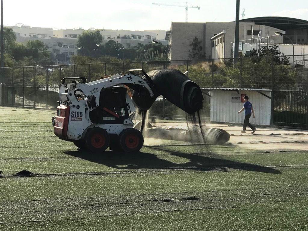 מגרש הכדורגל במודיעין (צילום: דוברות עיריית מודיעין מכבים רעות)