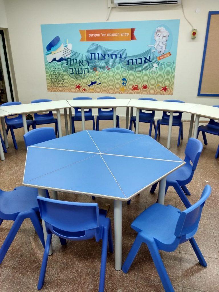 מרחב הלימוד החדשני בבית הספר אופק (צילום: דוברות עיריית מודיעין מכבים-רעות)