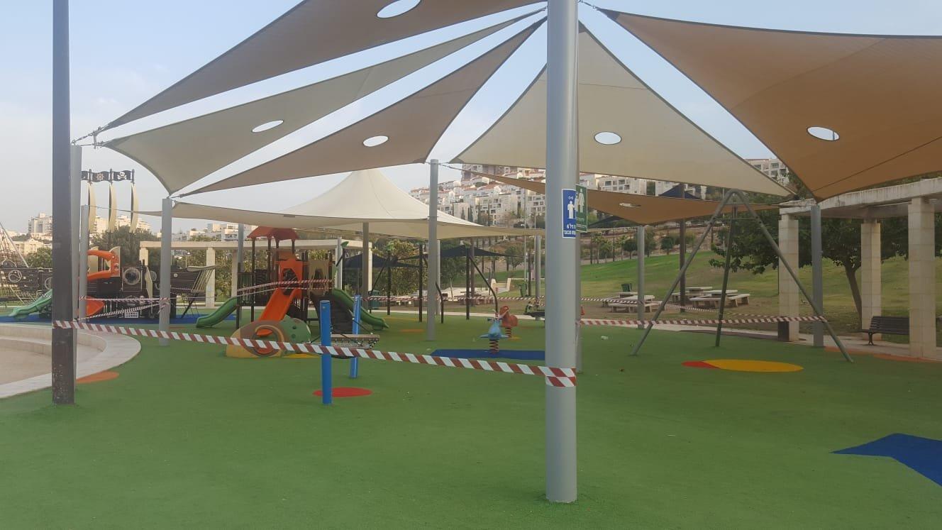 עבודות תשתית בפארק ענבה (צילום: דוברות עיריית מודיעין מכבים רעות)