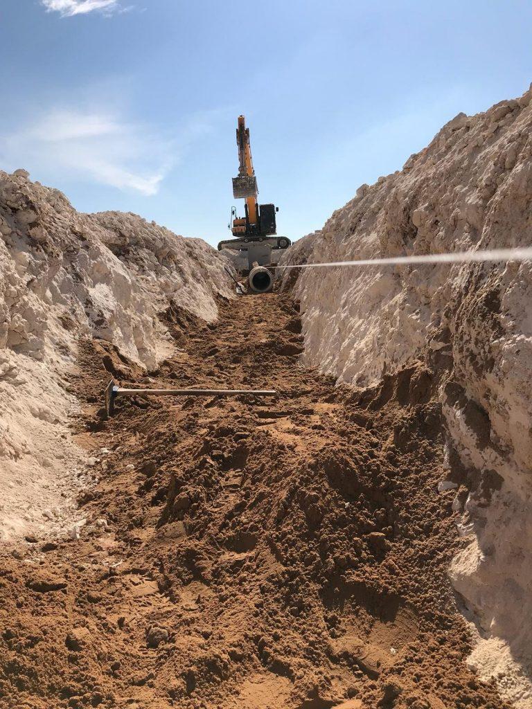 עבודות ביוב וניקוז בשכונת מורשת (צילום: דוברות עיריית מודיעין מכבים רעות)
