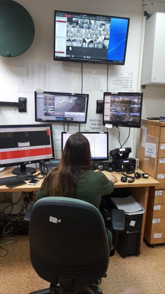 מערך האבטחה - עיריית מודיעין (צילום: דוברות עיריית מודיעין מכבים רעות)