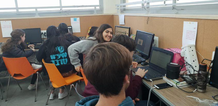 האקתון תלמידים (צילום: דוברות עיריית מודיעין מכבים רעות)