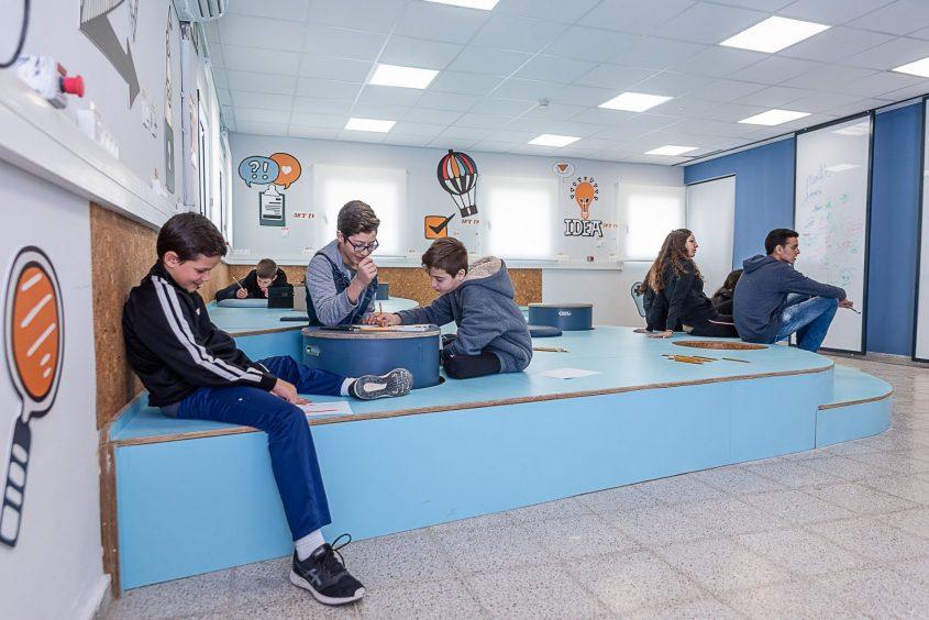 מרחב הלימוד החדש בבית הספר עירוני ה' (צילום: דוברות עיריית מודיעין מכבים רעות)