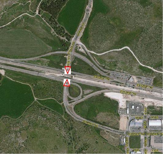 מיקום העבודות להקמת גשר רכבת קשת מודיעין (צילום: דוברות עיריית מודיעין מכבים רעות)