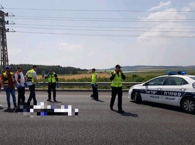 """תאונה כביש 1 (צילום: דוברות מד""""א)"""