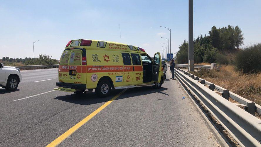 """זירת התאונה ב-431 (צילום: תיעוד מבצעי מד""""א)"""