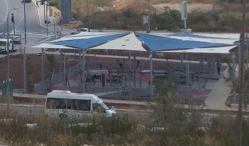 מתחם האימונים בכניסה לשכונת הציפורים - שדרות יצחק רבין (צילום: דוברות עיריית מודיעין מכבים רעות)