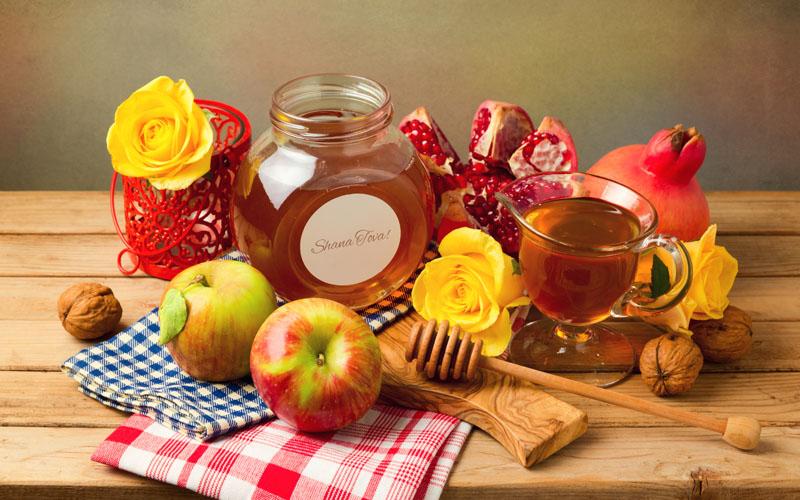 קערת ראש השנה - רימונים, תפוח, דבש (צילום: פוטו ליה)