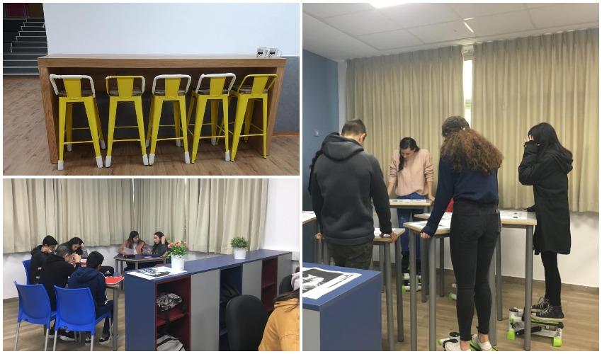 מרחבי הלימוד החדשניים בעירוני ב' (צילומים: דוברות עיריית מודיעין מכבים רעות)