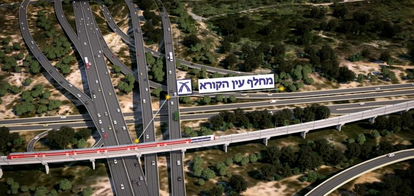 הדמיית מסילת 431 החדשה שנבנית במודיעין (הדמייה: דוברות רכבת ישראל)