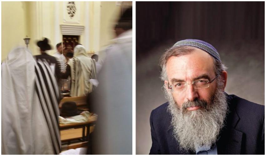 """הרב דוד סתיו, בית כנסת (צילומים: יח""""צ, גיל מגן-כהן)"""