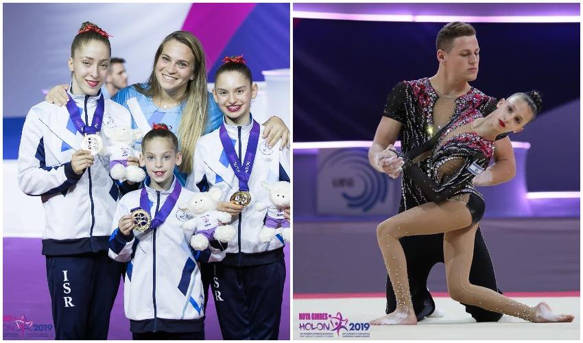מודיעין הביאה דאבל: שתי אלופות חזרו עם מדליות זהב מאליפות אירופה באקרובטיקה