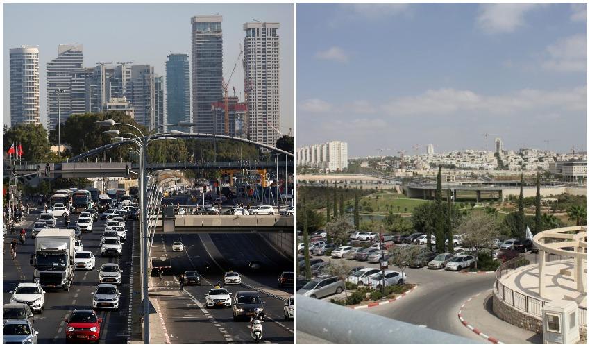מודיעין, תל אביב (צילומים: רויטרס CORINNA KERN, פרטי)