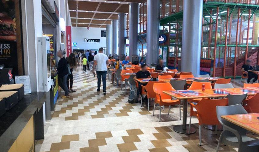 מתחם המסעדות בקניון עזריאלי (צילום טל דיל)