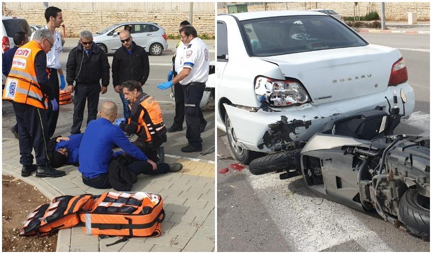 זירת התאונה (צילום: איחוד הצלה)