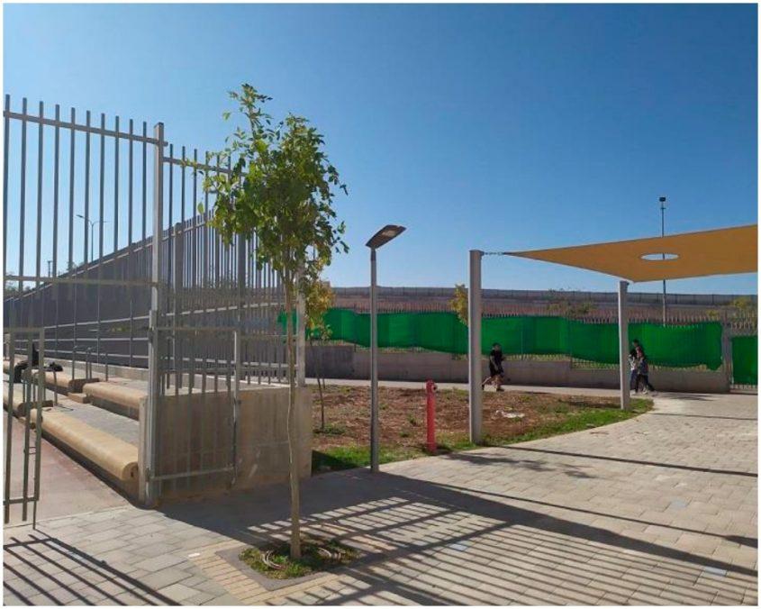 אבק בבית הספר (צילום: מתוך דוח המשרד להגנת הסביבה מרים אייל מונדרי)
