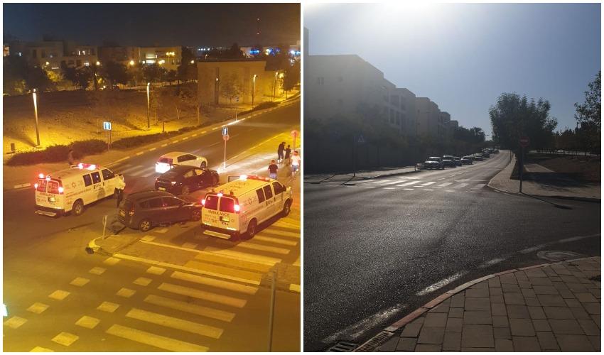רחוב עמק זבולון, תאונה בצומת הרחובות עמק זבולון-מרדכי מקלף (צילומים: מוטי סמברנו)