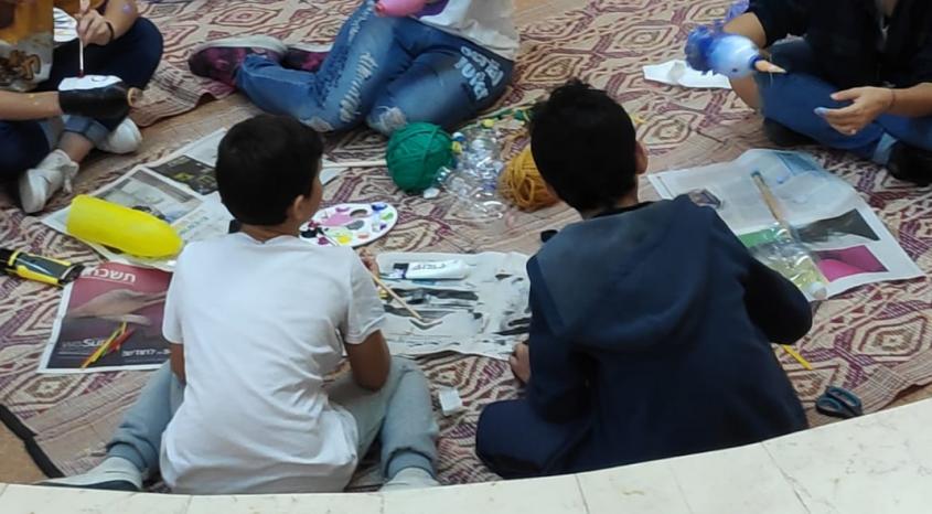 פעילות נוער יוצר תרבות (צילום: אלה בן שושן)
