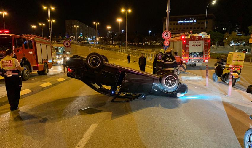 זירת התאונה בעמק דותן (צילום: דוברות איחוד הצלה)