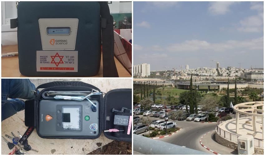 מודיעין, מכשירי החייאה (צילומים: איחוד הצלה, דוברות עיריית מודיעין מכבים רעות)