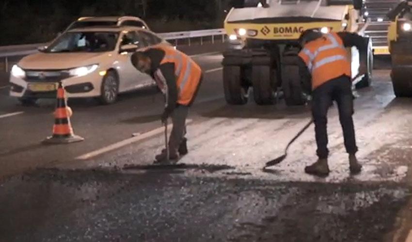 עבודות בכביש (צילום: נתיבי ישראל)
