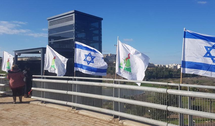 המעלית החדשה בפארק ענבה (צילום: דוברות עיריית מודיעין מכבים רעות)