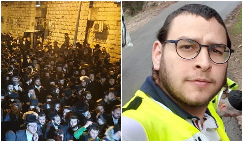 """אברהם וינברג ז""""ל, הלוויה שהתקיימה אתמול בערב (צילומים: מתוך דף הפייסבוק של ארגון ידידים, שימי אקשטיין)"""