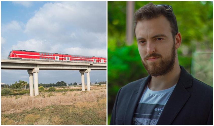 אור גרינפלד, רכבת ישראל (צילומים: גיא צ'רקוב, דוברות רכבת ישראל)