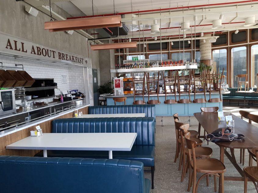 מסעדת בנדיקט סגורה (צילום: אלירן חלפון)