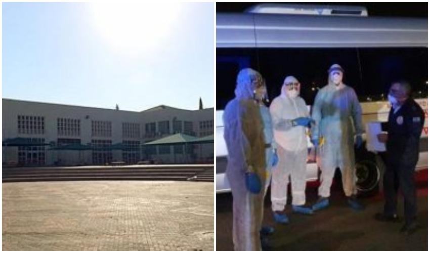 """בית ספר תיכון מכבים רעות, חשש מהתפרצות הקורונה (צילום: דוברות עיריית מודיעין מכבים-רעות, תיעוד מבצעי מד""""א)"""