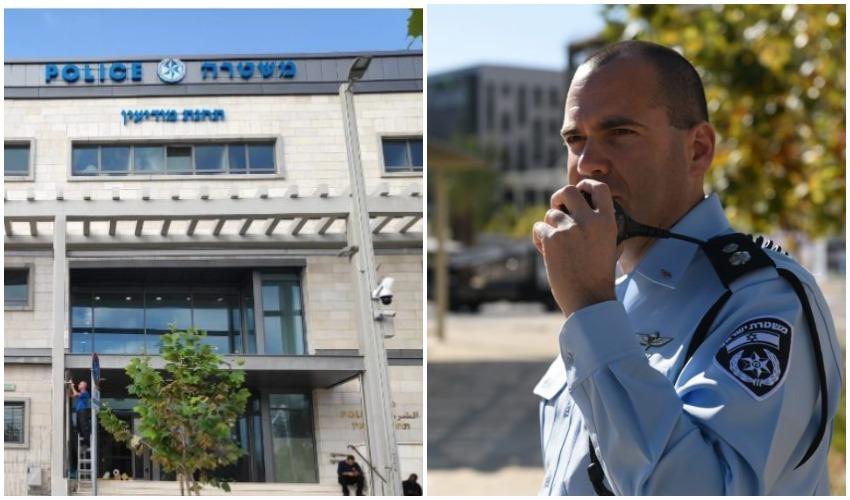 סגן ניצב אלעד קליין, מפקד תחנת משטרת מודיעין, תחנת המשטרה החדשה בעיר (צילומים: דוברות משטרת ישראל)