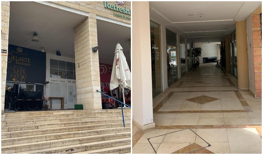 """מרכז מסחרי לב רעות, מרכז מסחרי מלר""""ז - בימי משבר הקורונה (צילומים: מוטי לוי, נהר גפן)"""