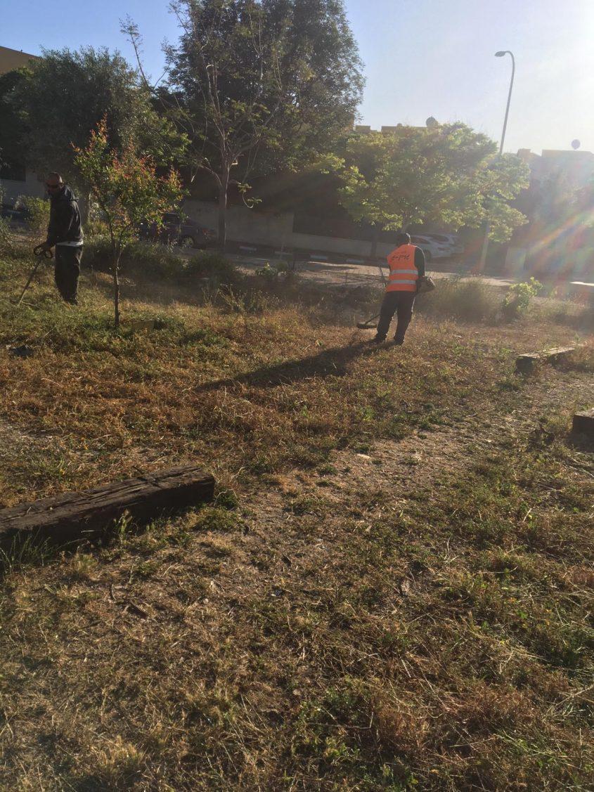 שיקום הגינה הקהילתית (צילום: דוברות עיריית מודיעין מכבים רעות)